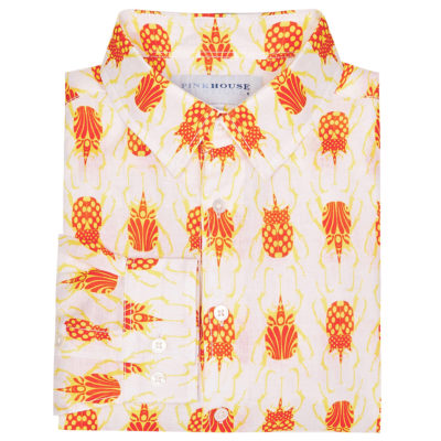 orange beetle linen shirt