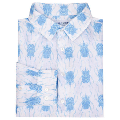 Blue Beetle linen shirt