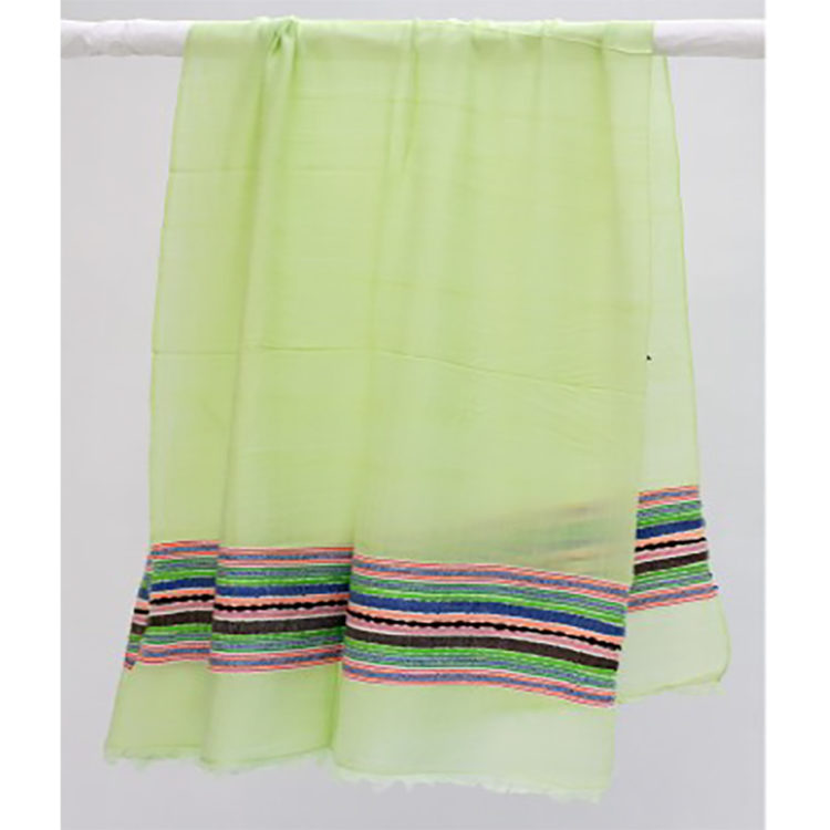 Lime Green Woven Scarf