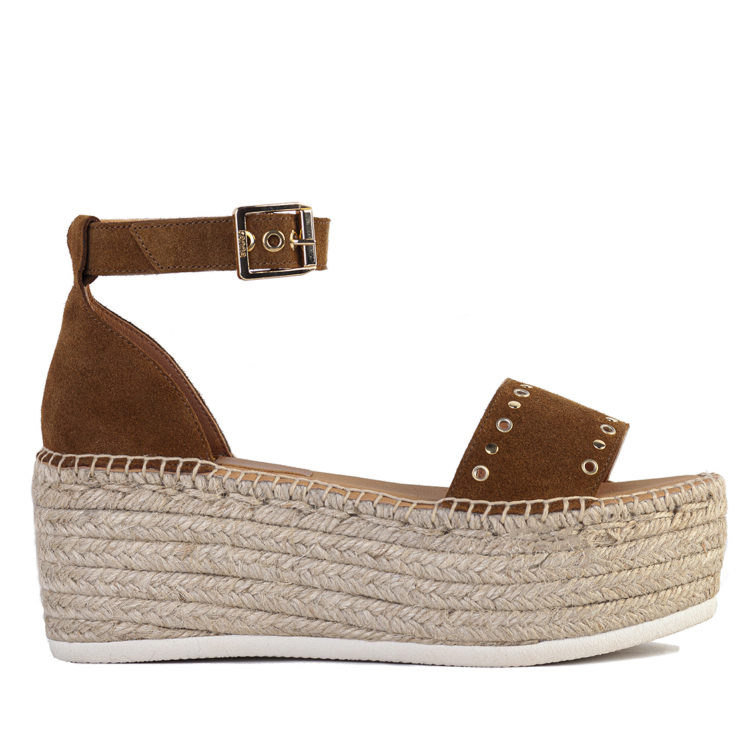 Suede Studded Wedge