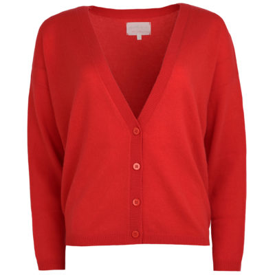 Coral cashmere cardigan