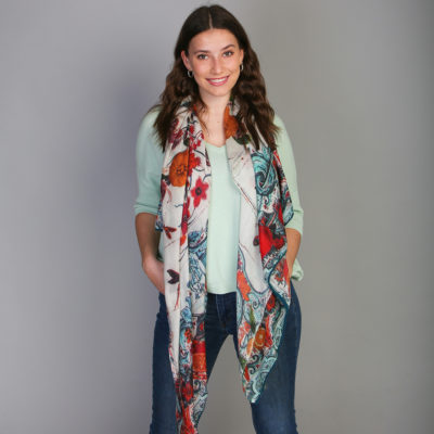 Orangello Wool Shawl