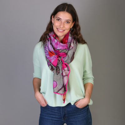 Water Lillies Wool Shawl