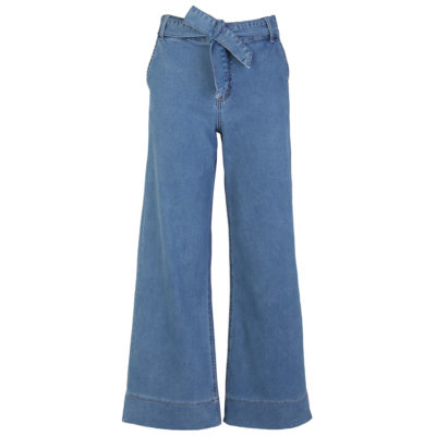 Wide Leg Stone Wash Jeans