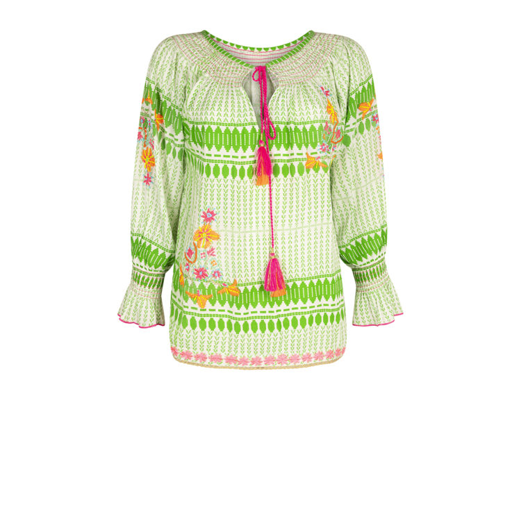 Emerald Embroidered Blouse
