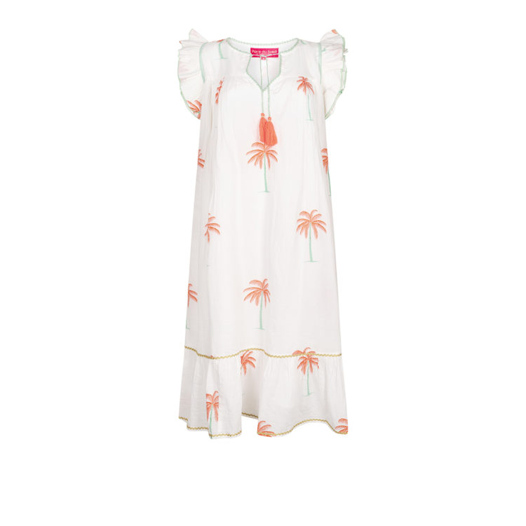 White Palm Dress