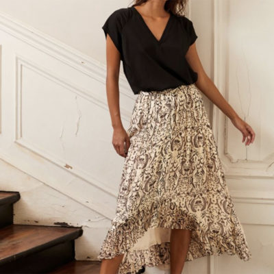Vanilla Asymetric Skirt