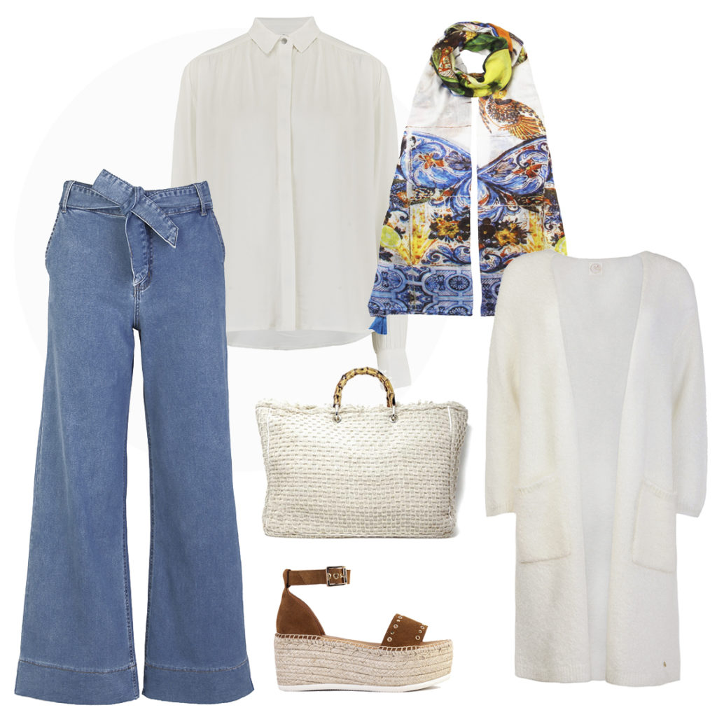 High waisted trousers and an elegant blouse