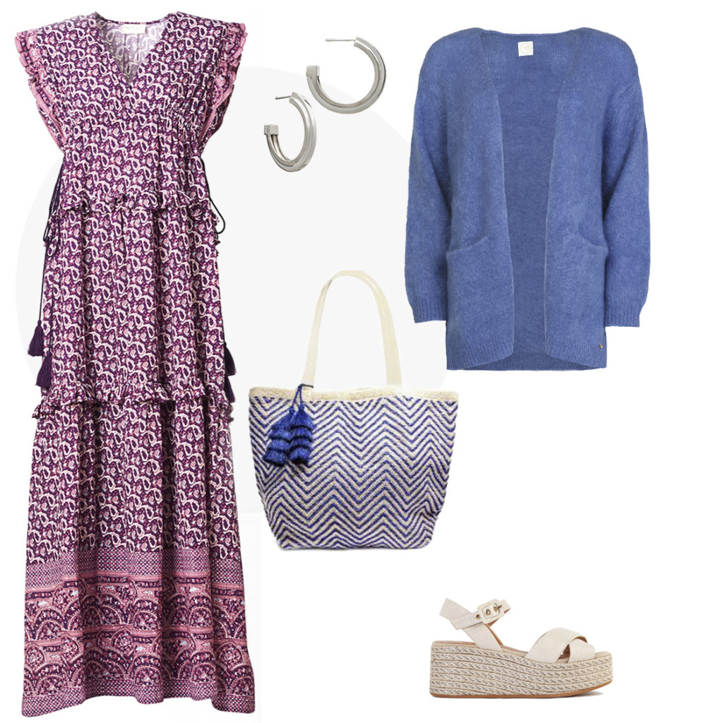 A maxi dress is an easy, on-trend option