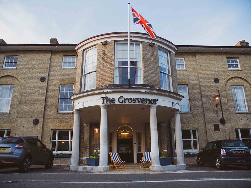 The Grosvenor Hotel façade