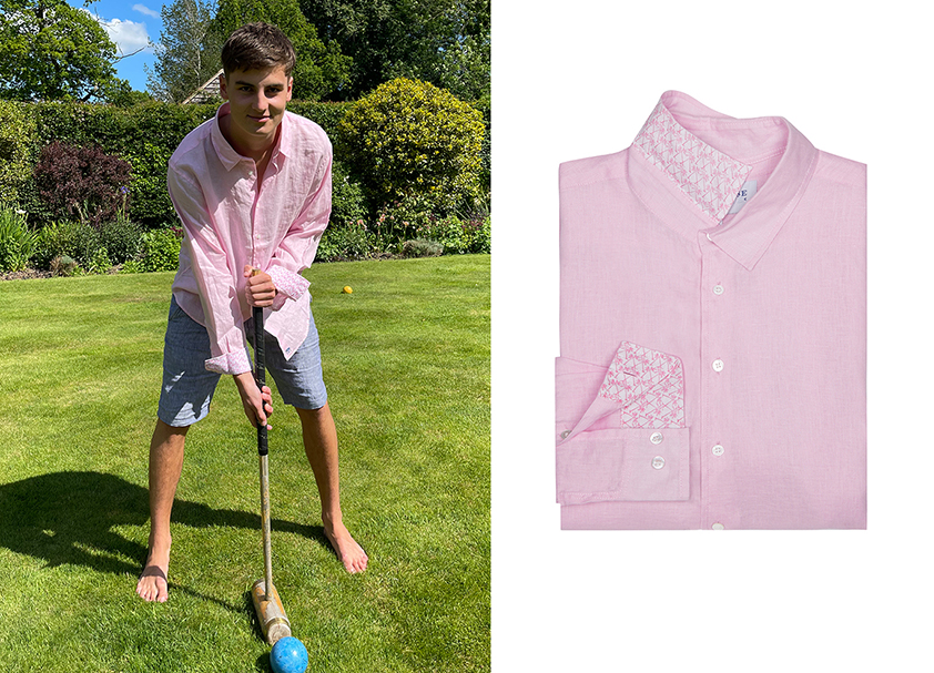 Pale Pink Linen Shirt by Pink House Mustique
