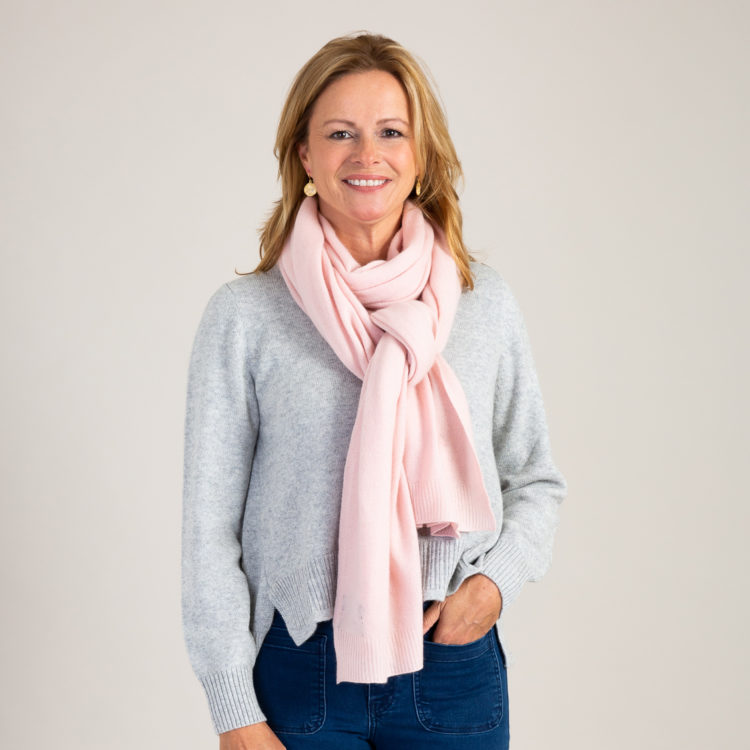 Soft Pink Classic Cashmere Scarf