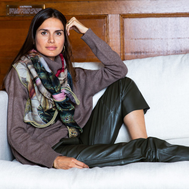 Olive Green Leather Trousers