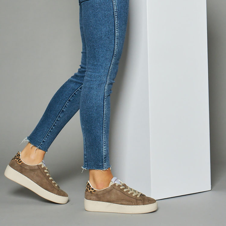 Evelyn Chocolate Suede Trainer