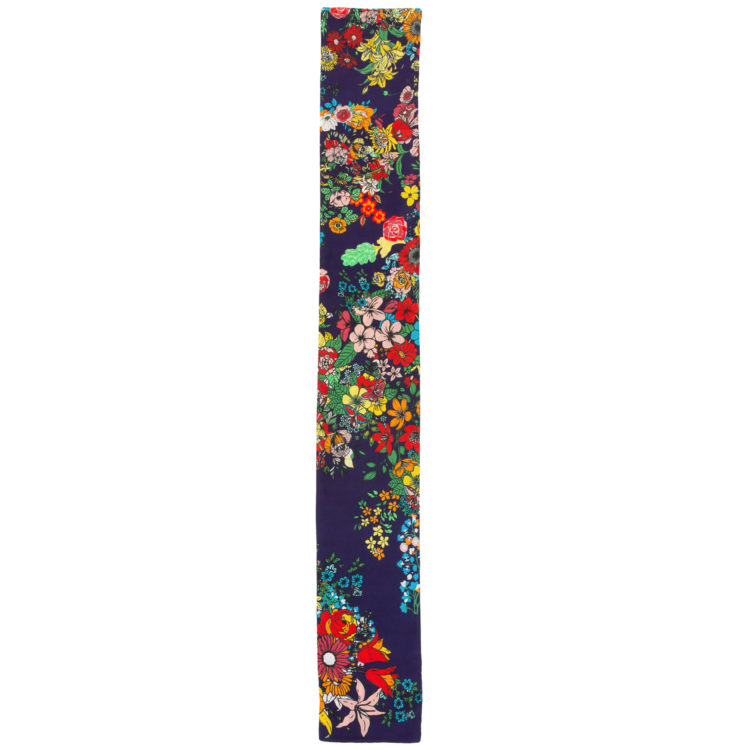 Navy Floral Twilly Scarf