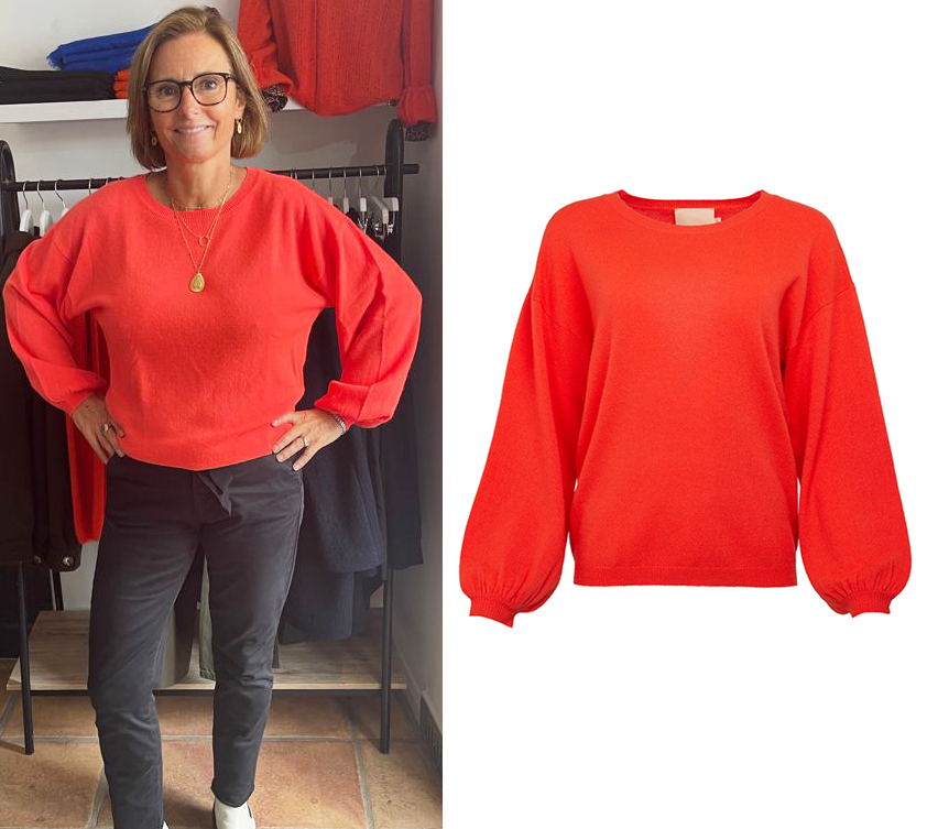 Coral Round Neck Cashmere Jumper by Absolut