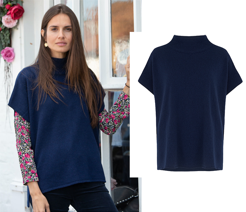 Navy Sleeveless Jumper by Sheep by the Sea