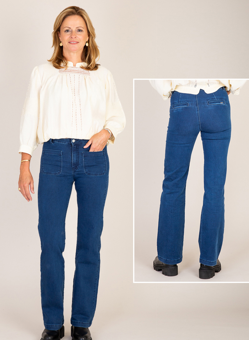 Indigo Two Pocket Jeans by Cleverly Wrapped