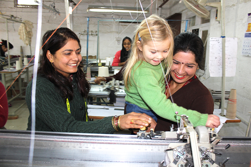 Daughter at the factory in Nepal