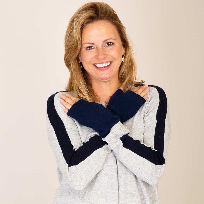 Retro Jumper in Silver Marl by Cleverly Wrapped